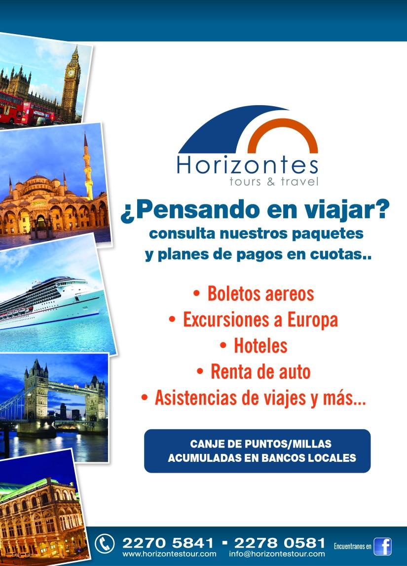 Anuncio Horizontes Tours Ed I